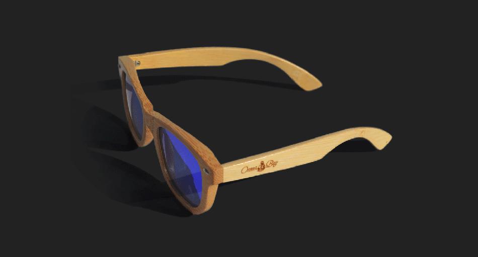 bay男性太阳眼镜品牌形象logo设计—成都摩品