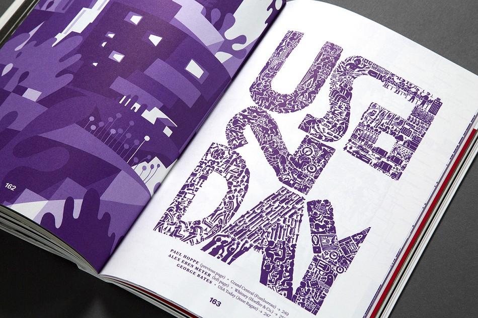 Slanted杂志第26期的主题是纽约,通过采访设计师、印刷师和艺术家等见证和塑造纽约城市形象的这批人来了解这个城市。Slanted杂志通过采访这个城市最具有活力的工作室和人物访谈并制作了一个视频合集。因为纽约是一个存在时间很长但仍然是一个主流文化城市,这是一个城市奇迹。纽约保持了自己的发展速度,不追随他的脚步发展的那部分人将会被留下来。这种持续发展的速度就是纽约的力量,每个生活在这里的人都想成为自己理想中的人。尽管没有任何一个好理由让人住在这里,但创造力是为生存而战的一部分。因此安迪沃霍尔的香蕉-比大苹