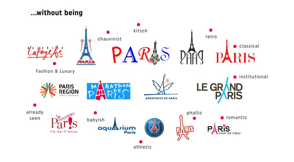 巴黎旅游观光局城市旅游品牌形象设计,标志logo设计—